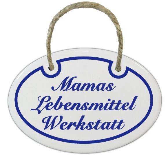 warentisch emaille t rschild mamas lebensmittel werkstatt oval wei blau. Black Bedroom Furniture Sets. Home Design Ideas